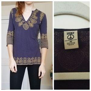Lucky Brand Cotton Yoga Shirt